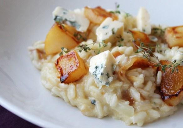 risotoo de gorgonzola e pera