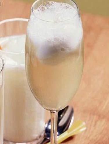 champagne com sorbet de limão