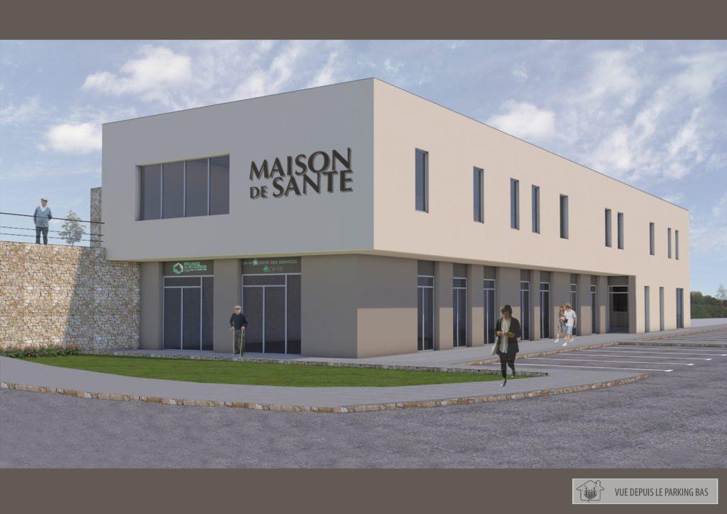 Plan : vue de la future maison de santé de Bozouls