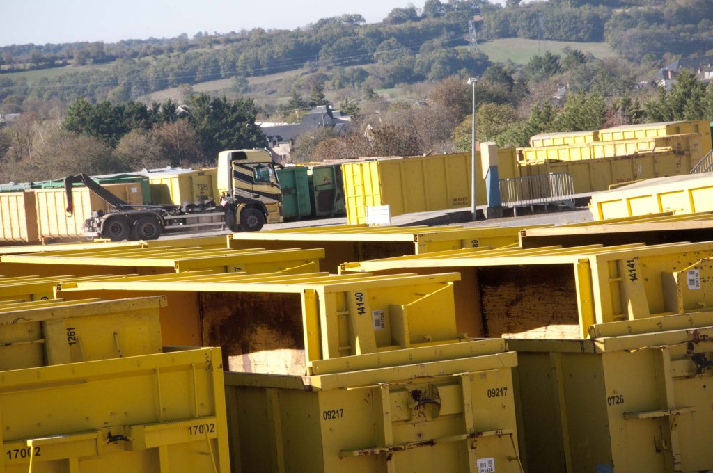 Bennes, recyclage - entreprise Braley, 3clt en Aveyron