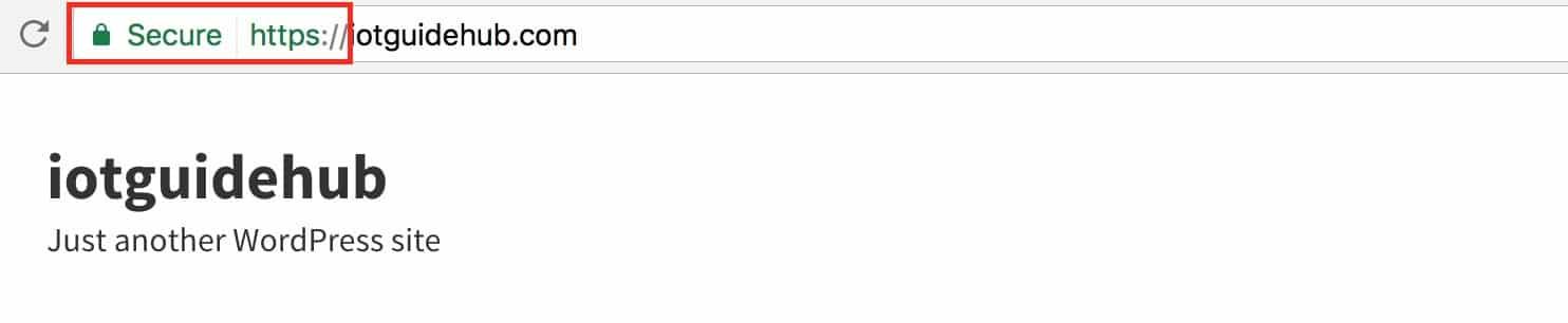 wordpress https browser lock icon