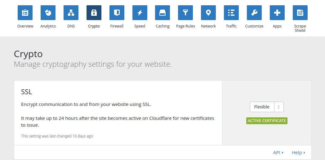 cloudflare wordpress flexible ssl