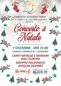 Comitato Stefano Verri: Concerto di Natale 7/12/2019 ore 21 Chiesa S.Giorgio