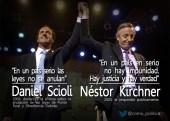 Scioli y Kirchner