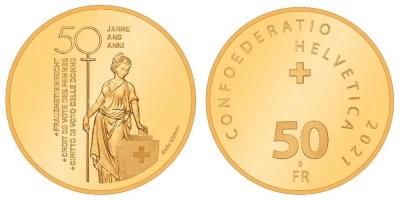 Svizzera moneta commemorativa 50 anni voto donne