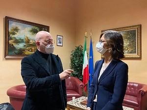 ministro Gelmini e presidente Bonaccini