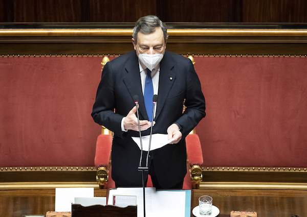premier Draghi Senato