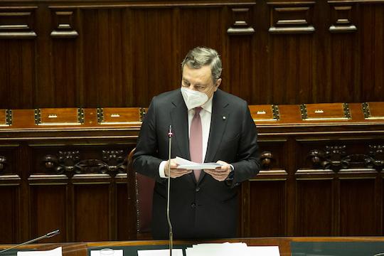 Premier-Draghi-Parlamento
