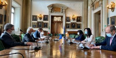 Incontro-ministro-bianchi-commissaria-europea-Gabriel