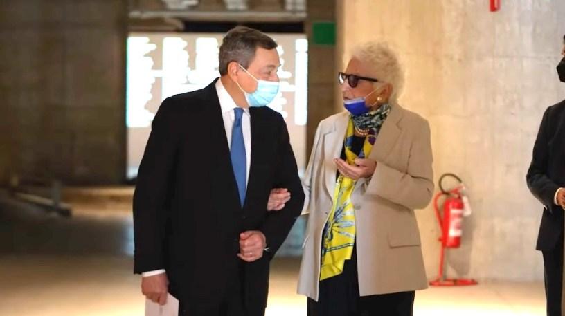 presidente-Draghi-senatrice-Segre-Memoriale-Shoa