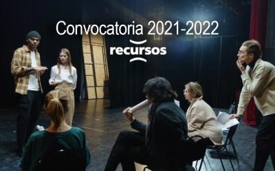Convocatoria Recursos 2021-2022