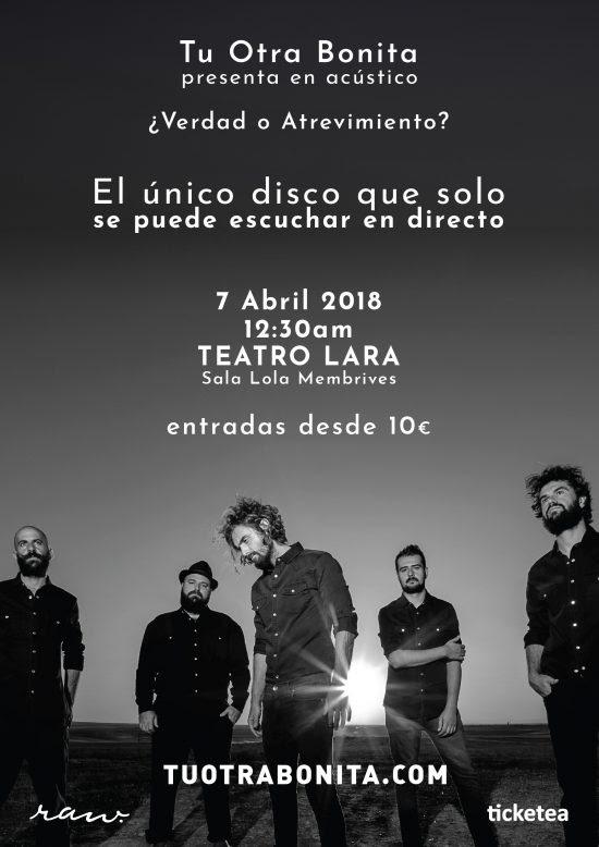 Tu Otra Bonita presenta en Madrid su disco ¿Verdad o Atrevimiento?