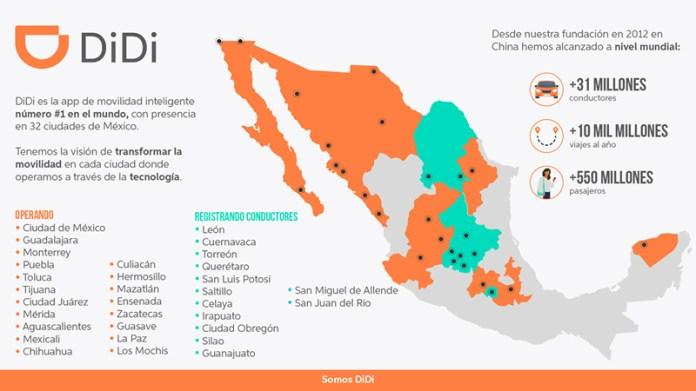 DiDi se prepara para operar en 13 ciudades más de México ...
