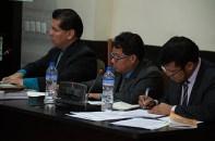 Maynor Aguilar Bernardino (MP), Pascual Tiu Zapeta y José Luis Chan Chamale.
