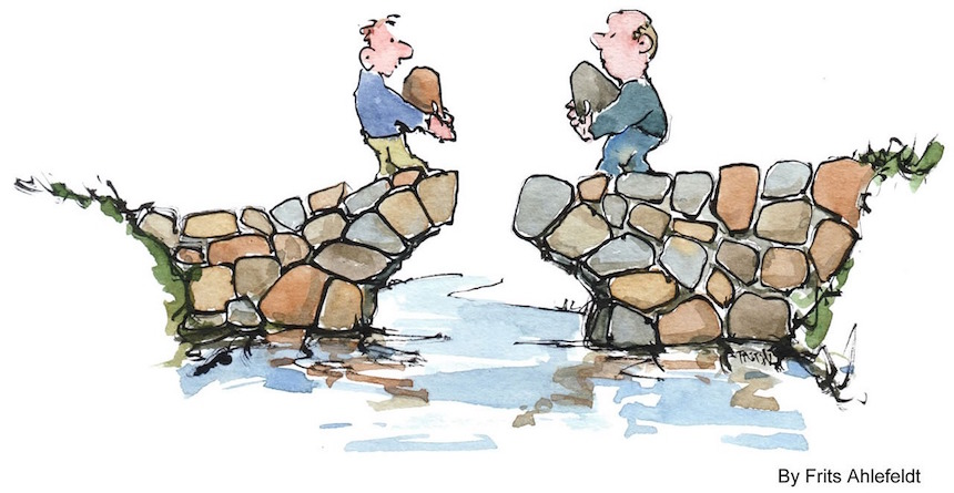 How can experts communicate well to non-experts to bridge the gap.