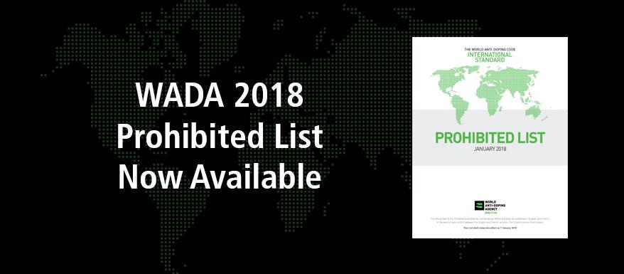 AMA publica la Lista de Prohibiciones 2018
