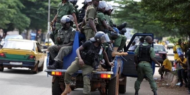 Une patrouille de police à Conakry (photo d'illustration). AFP Photo/ISSOUF SANOGO