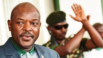 Le président du Burundi, Pierre Nkurunziza, dans son palais présidentiel, à Bujumbura (Burundi), le 17 mai 2015. (CARL DE SOUZA / AFP)