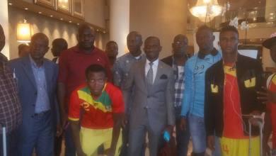 Le Syli National local de football de Guinée ce Mercredi 6 Janvier 2016 Johannesburg