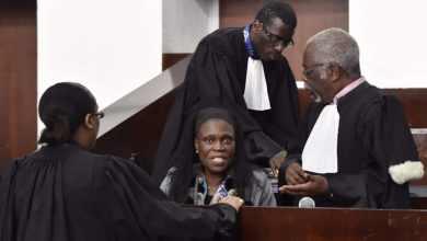 Simone Gbagbo lors de son procès en Côte d'Ivoire, le 27 juin 2016. © ISSOUF SANOGO / AFP