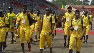 Arrivée de l'ASKaloum au Stade du 28 SEPTEMBRE de Conakry. Échauffourées avec quelques responsables du HOROYA AC