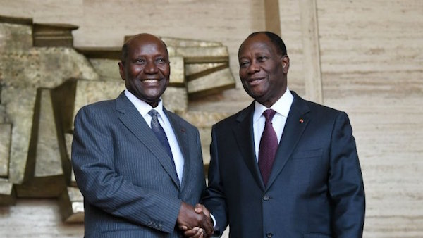 Daniel Kablan Ducan et Alassane Ouattara