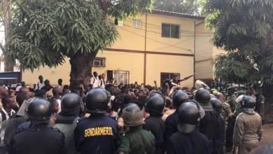 Manifestation élèves à kaloum