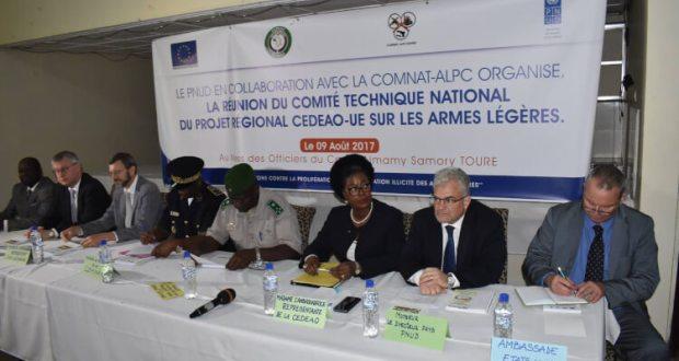 Réunion du Comité technique national du Projet régional CEDEAO-UE sur les armes légères