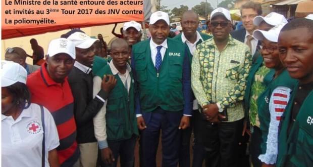 Lancement officiel du 3ème Tour 2017 des Journées Nationales de Vaccination contre la poliomyélite en Guinée.