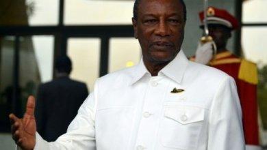 Le président guinéen Alpha Condé, le 17 août 2017 à Ouagadougou   AFP:Archives   Ahmed OUOBA