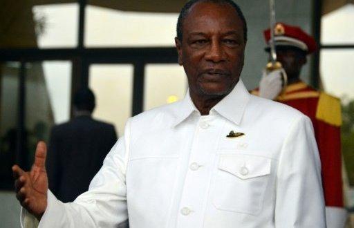Le président guinéen Alpha Condé, le 17 août 2017 à Ouagadougou | AFP:Archives | Ahmed OUOBA