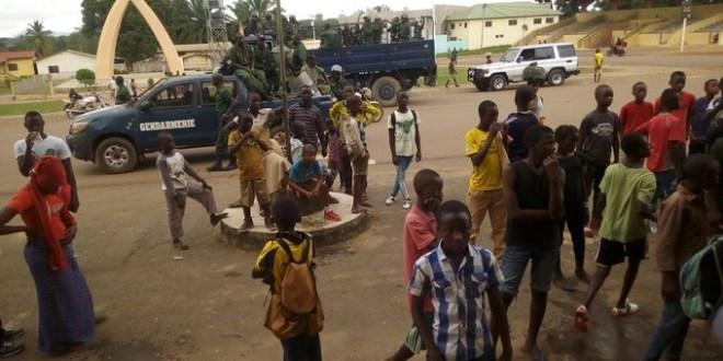 Manifestation à Nzerekore