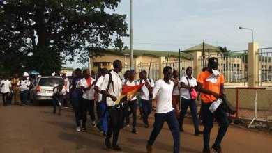 Manifestations d'eleve à conakry