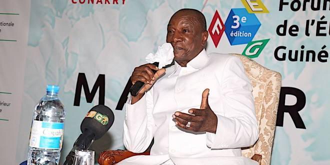 Le Président Alpha Condé au Forum de l'Etudiant Guinéen