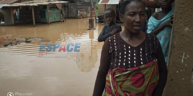 Inondations dans plusieurs quartiers à Nzérékoré