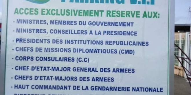 Voici la liste des personnalités autorisées à accéder au parking VIP de l'aéroport international de Conakry Gbessia .