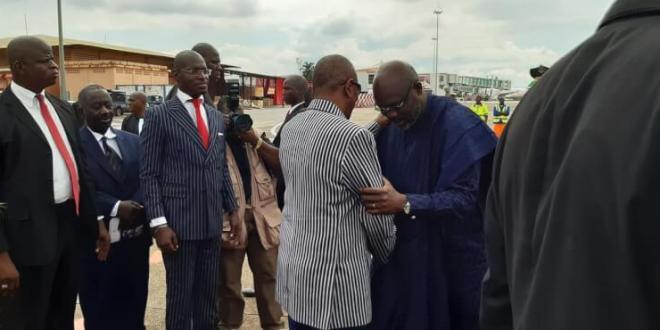 Le Président du Liberia, SEM Georges Weah est à Conakry pour une visite officielle de deux jours.