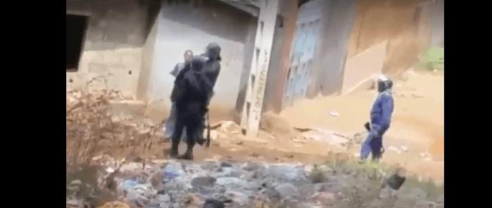 La honteuse police guinéenne en action à Wanidara ce 29/01/2020