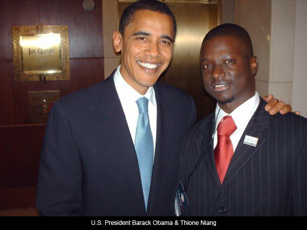 Thione NIANG et Obama