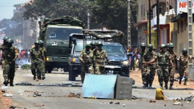 Nzerekoré l'armée en renfort
