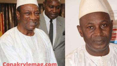 Alpha Condé et Abdourahmane Sanoh FNDC
