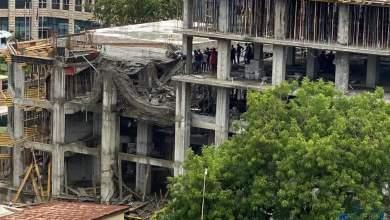 Urgent: La dalle du bâtiment en construction qui doit abriter le siège de la Banque Centrale de la République de Guinée s'écroule...