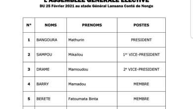 LGFP Congrès électif, liste des candidats retenus