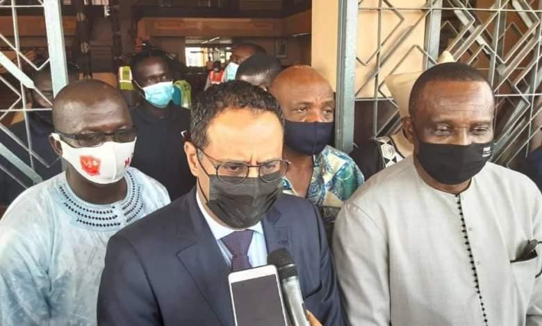 Le Mauritanien Ahmed Yahya, candidat à la Présidence de la CAF, est arrivé à Conakry.