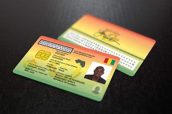 Guinée procédure pour l'obtention de la carte d'identité biométrique