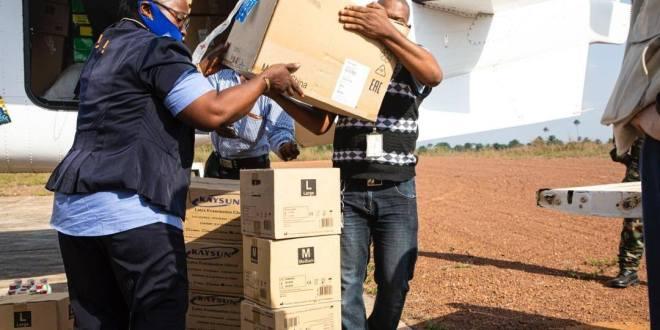 dispositif logistique pour la réponse contre Ebola à N'Zérékoré