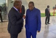Alpha Condé et son Premier Ministre Kassory Fofana au palais Sekoutoureyah