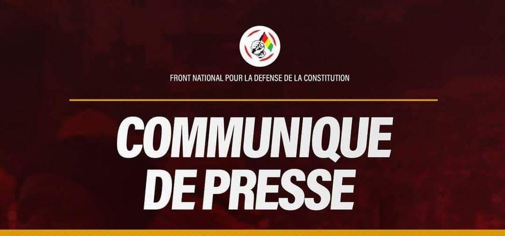 Communique de presse FNDC