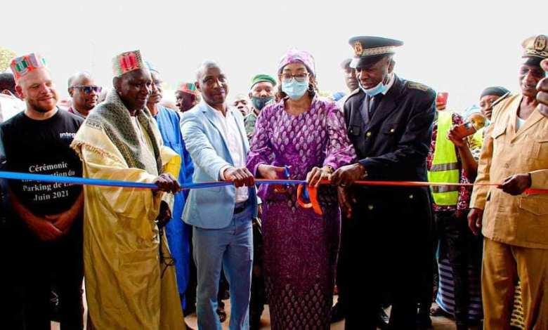 cérémonie d'inauguration du Parking multiservices du centre-ville de Labé