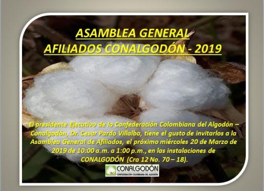 INVITACION ASAMBLEA 2019